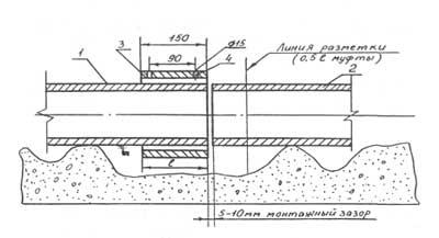 Соединение при помощи безнапорной хризотилцементной (асбестоцементной) муфты